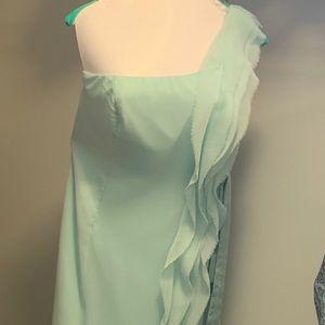 Mint green Vera wang dress